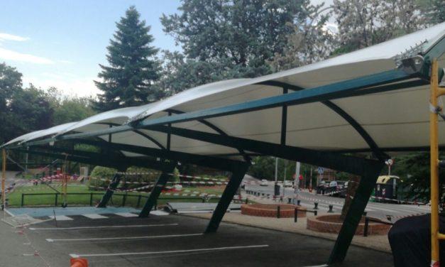 Sustitución del techo de chapa del parking del club